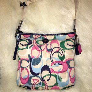 COACH SCRIBBLE Colorful IKAT Signature Duffle XB